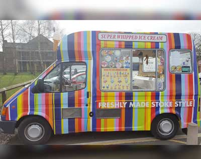 Rainbow Ice Cream Van
