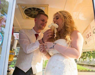 Wedding ice cream